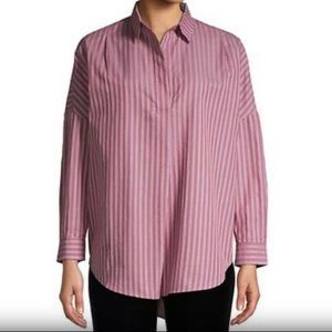 French Connection   NWT Bega Striped Cotton Top